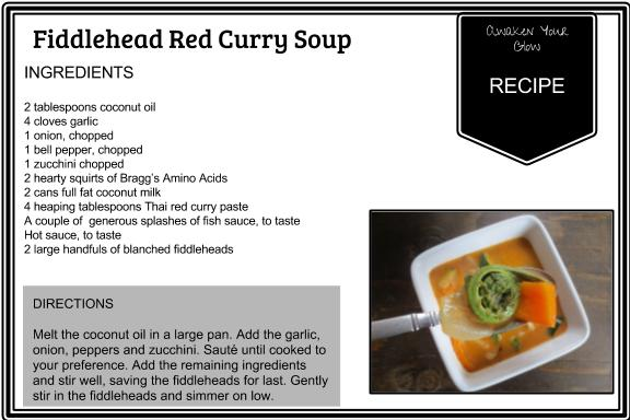fiddlehead red curry soup