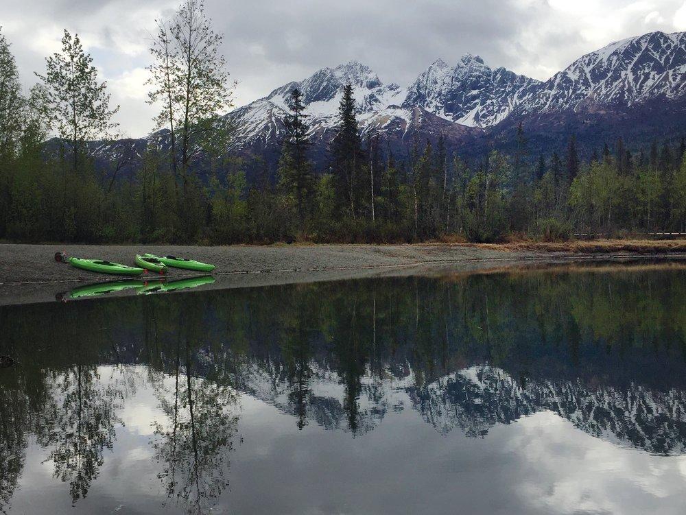 kayaks in Alaska