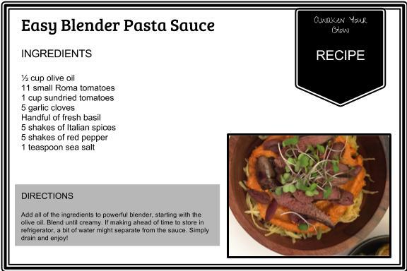 easy blender pasta sauce