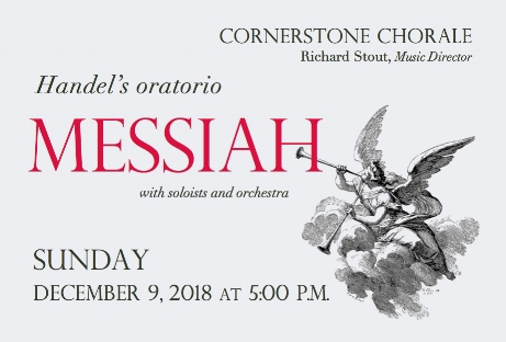 "- Cornerstone Chorale will perform the ""Messiah"" by G.F. Handel. Featuring orchestra and soloists. Conducted by Music Director, Richard Stout. Tickets $15 ($8 students and seniors). Made possible in part with funding from the Upper Manhattan Empowerment Zone Corporation and funded by LMCC."