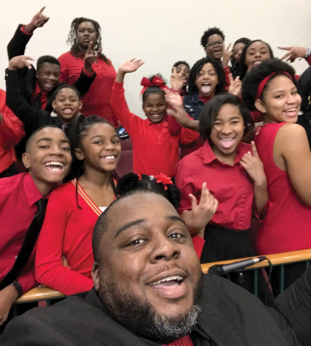 The Youth Choir and Minister of Music, Bro. Jarvis Smith