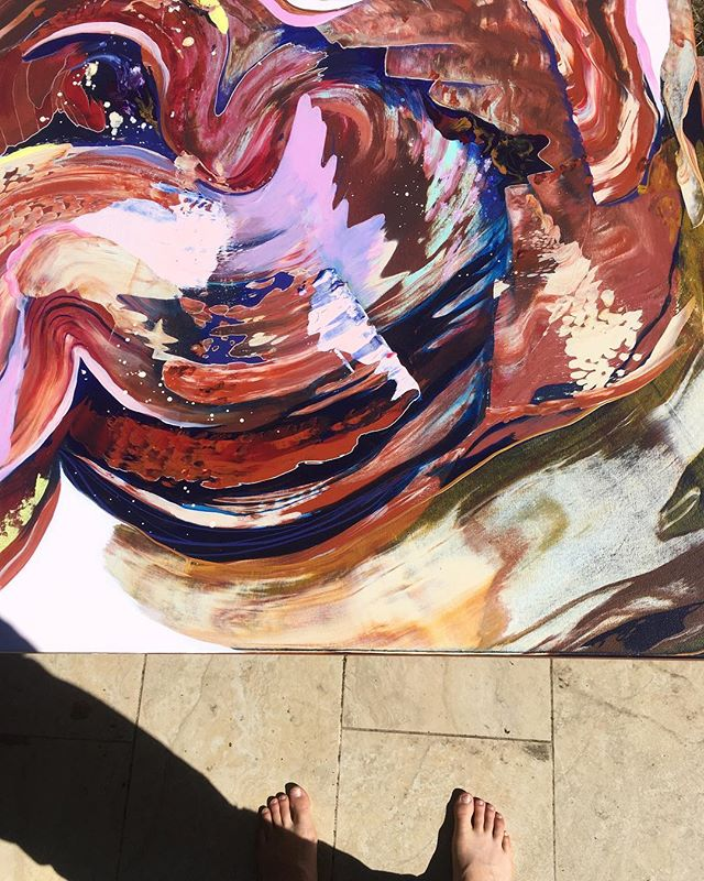 Landing in Santa Fe feels like stepping into this magic swirl painting #artsantafe #santafe #santafeart