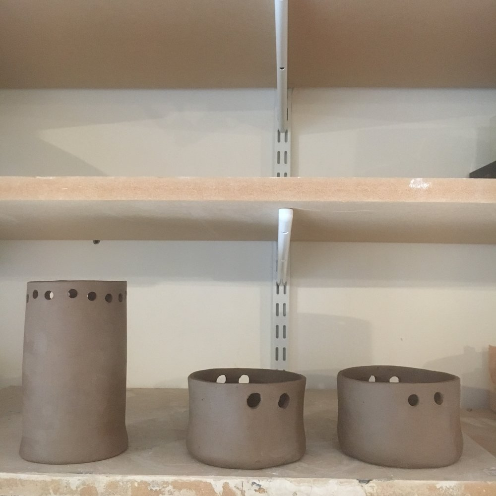 Wonderful planters which are going to have an interesting twist when finished.....