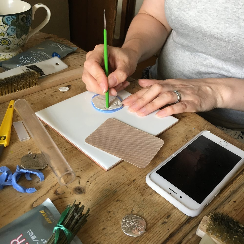 Emma showed us how to stipple and get the most from our impressions in the molds.