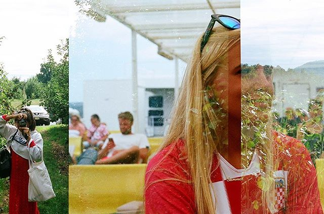 i accidentally double exposed half of a roll of film and at first i was like 😠 but now I'm like😊