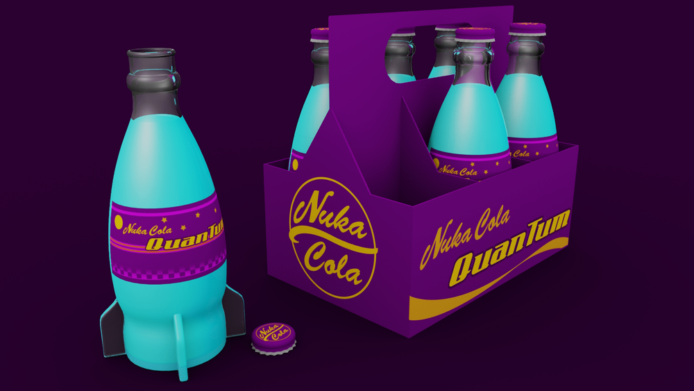 Now, I couldn't do a model of Nuka Cola, without also doing a QuanTum varient, could I?!