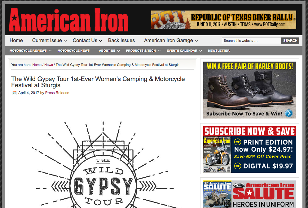 http://www.aimag.com/the-wild-gypsy-tour-1st-ever-womens-camping-motorcycle-festival-at-sturgis/