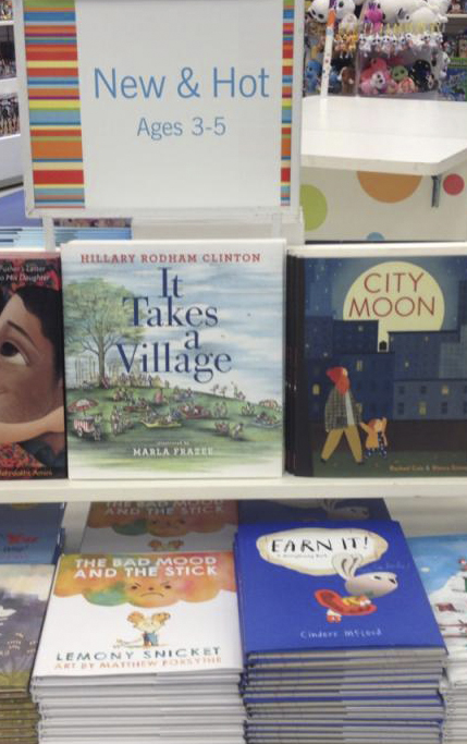 Bayview Village Indigo places EARN IT! in the New & Hot, 3-5 table, and Bun rubs shoulders with Hillary Clinton and Lemony Snicket!!!