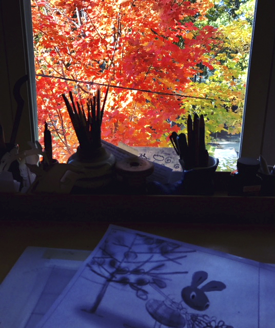 View and inspiration from my studio window