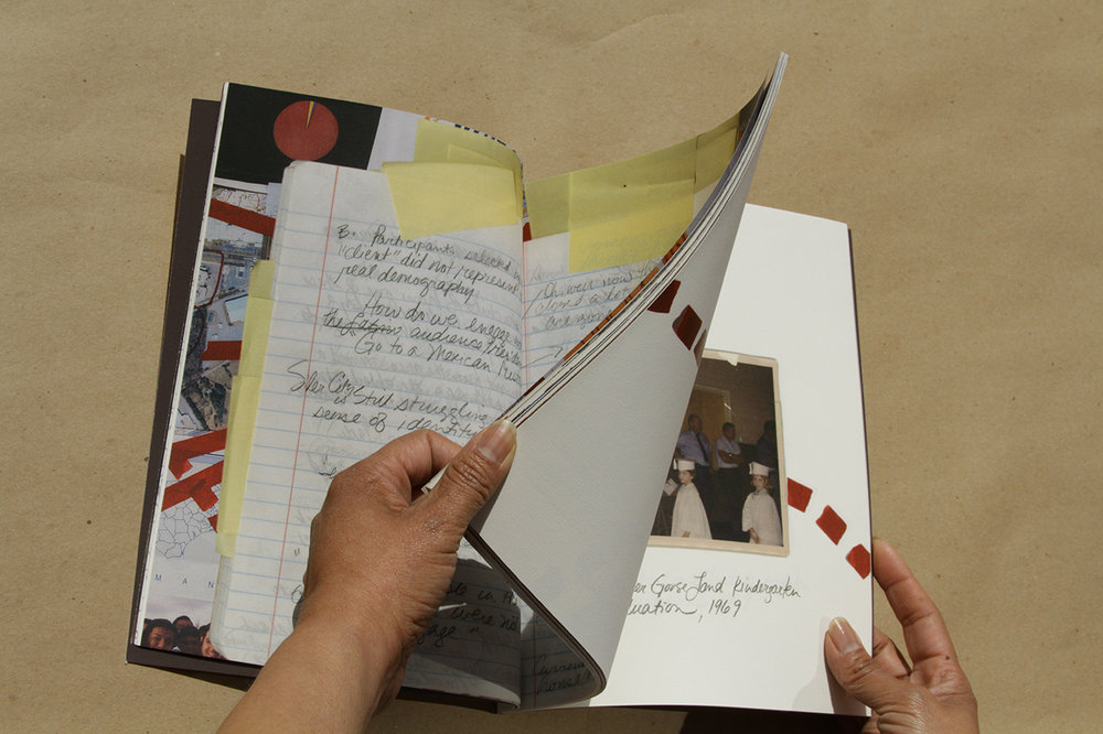 "The North Wind and the Sun , artist book (detail), edition 50, 8.5 x 11"", 71 pages, includes poster folded in glassine envelope, Conveyor Arts, 2016"