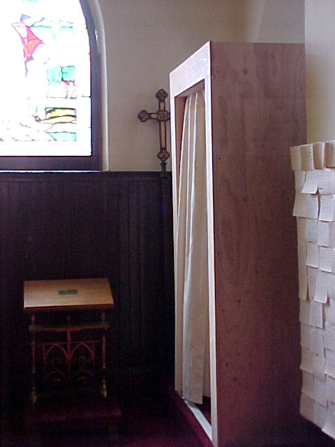 what haunts… ,  installation view, St. James Church, Amesbury, MA, 2002