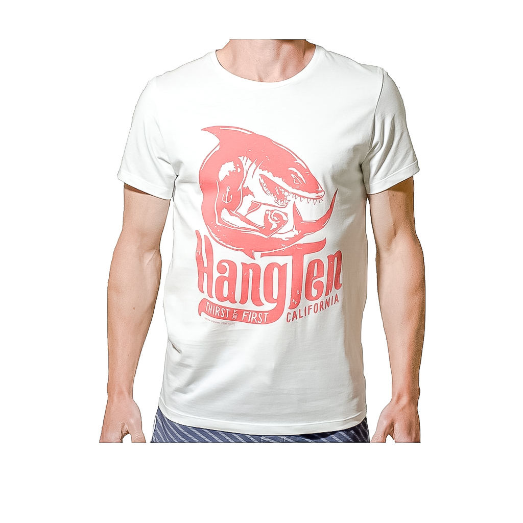 f2d129724 Hang Ten Europe - Hang Ten Shark Tee / White