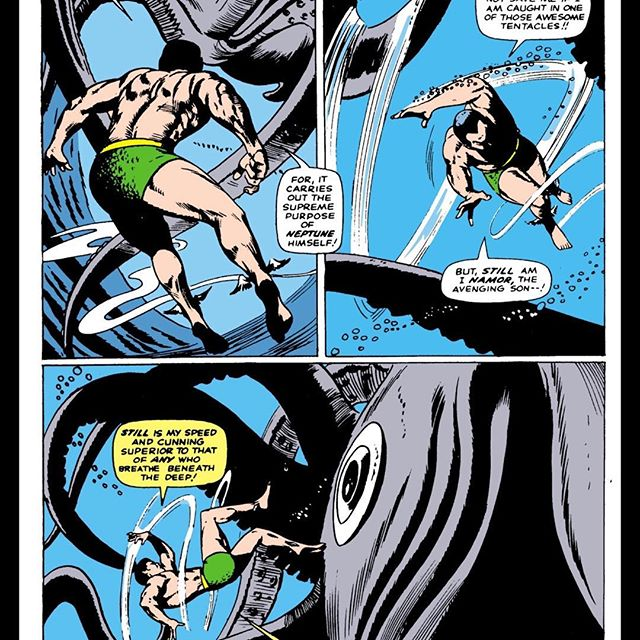 From Tales To Astonish #71. We cover this book in our latest podcast. We loved this panel for the awesome underwater movement.