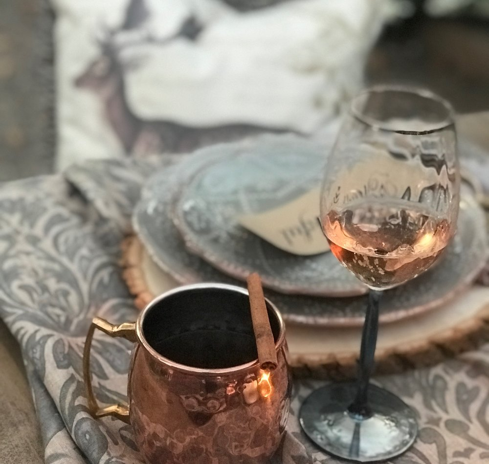 Copper Mug Fall Table