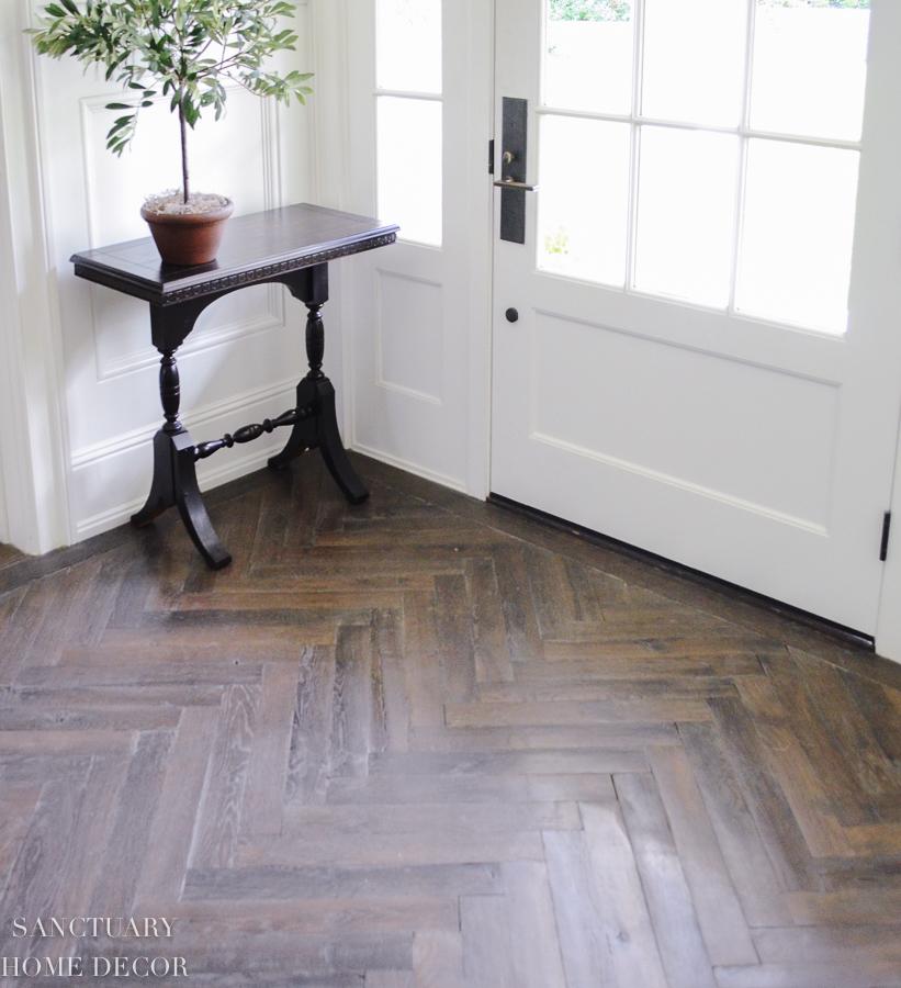 Herringbone-wood floors