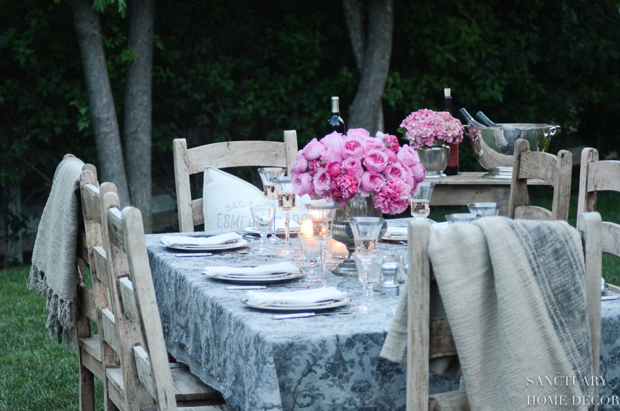 """This is my favorite fabric """"tablecloth"""" to use as a runner or table cover."""