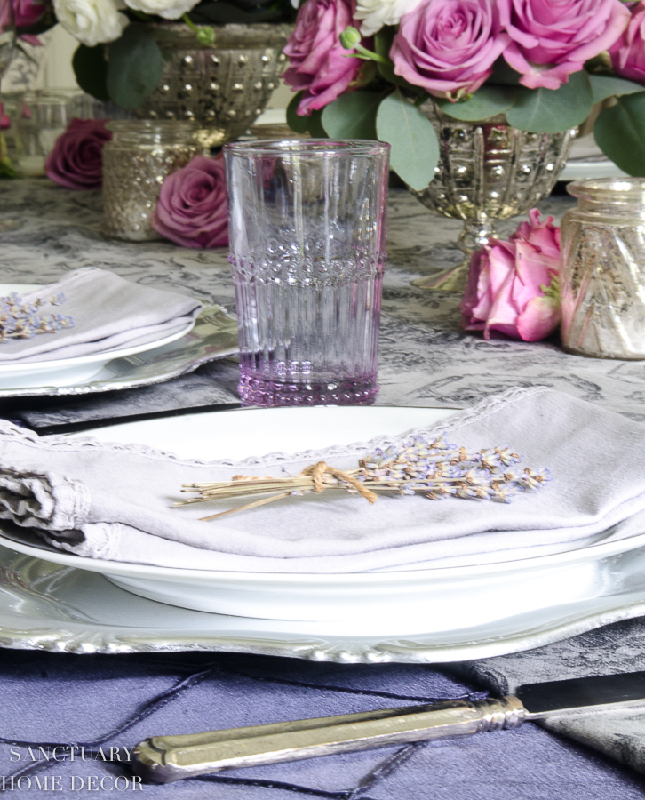Layering colors, textures and patterns adds interest to the whole look of your table.