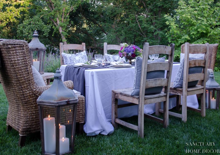 Easy Backyard Dinner Party