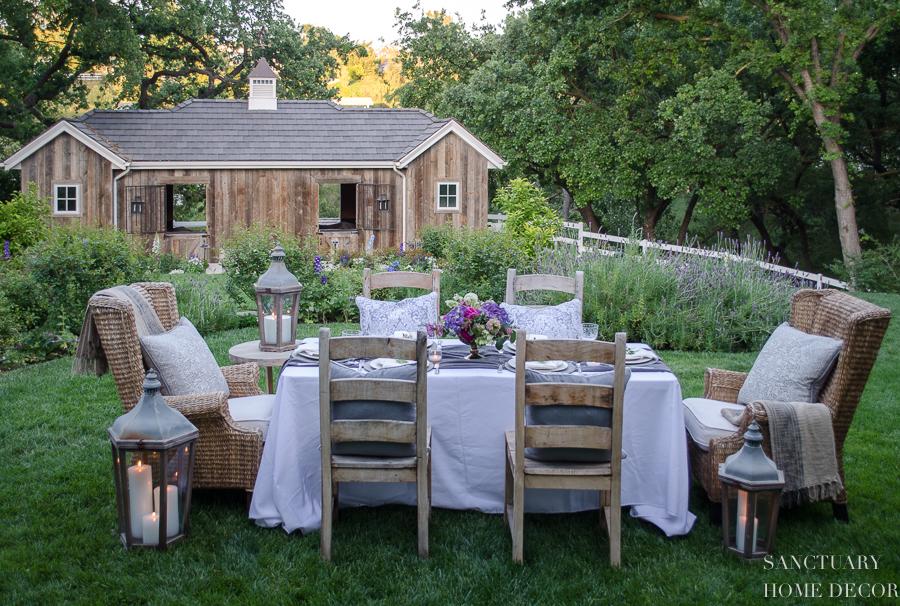 Backyard Dinner Party an early summer backyard dinner party — sanctuary home