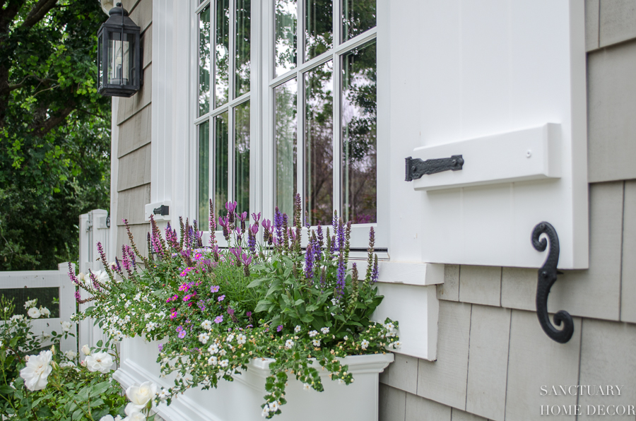 Shutters and Planter Boxes-Cape Cod Style