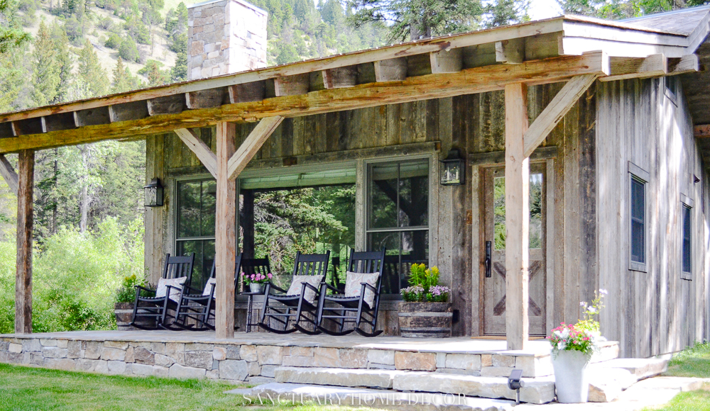 Barnwood-Cabin-rocking-chairs-porch