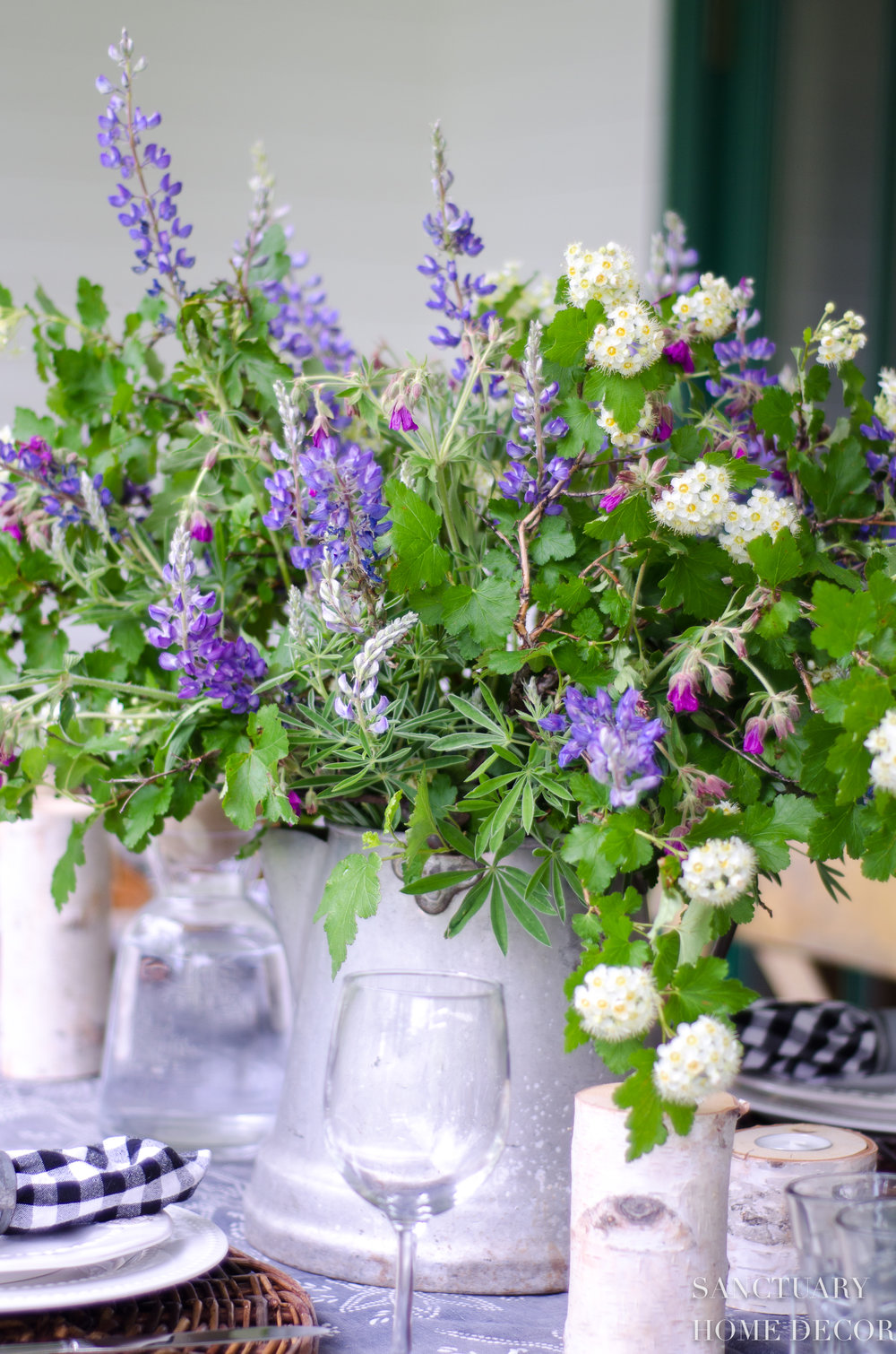 Wildflowers-Table Setting