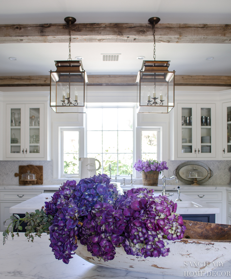 Farmhouse Kitchen with Double Pendant Lights