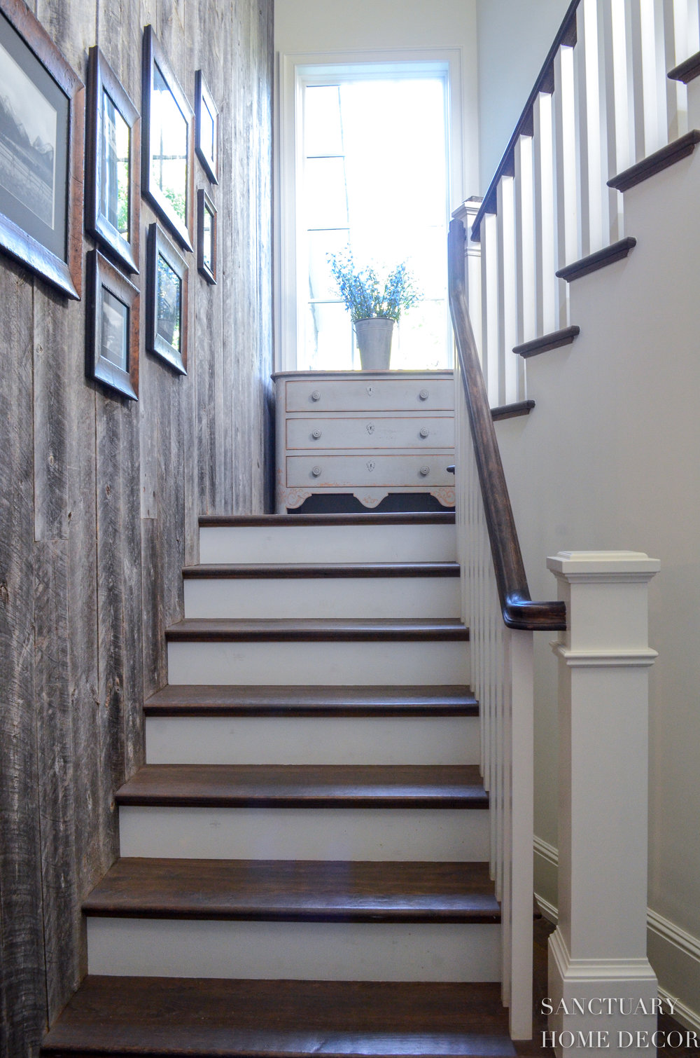 Reclaimed Barn Wood-Wall-Staircase-Design