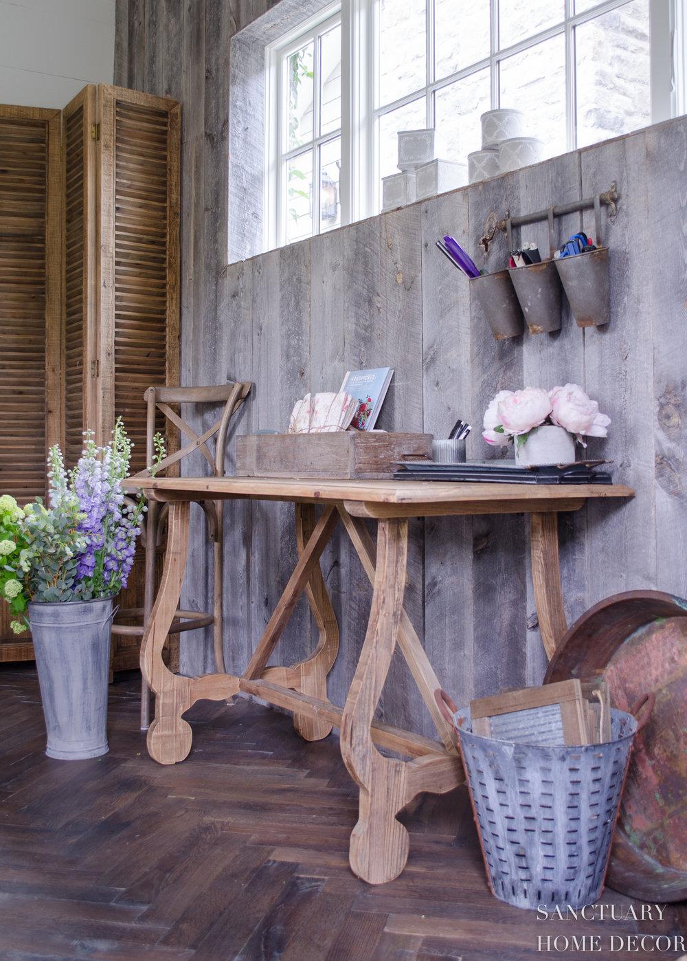 Reclaimed Barn Wood-Wall-Herringbone-Floors