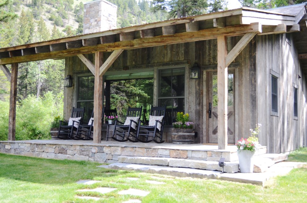Barn wood cabin exterior