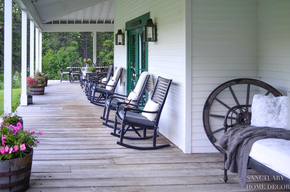 Rocking Chairs Wrap Around Porch