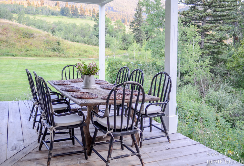 Porch Decor-Outdoor Dining Table