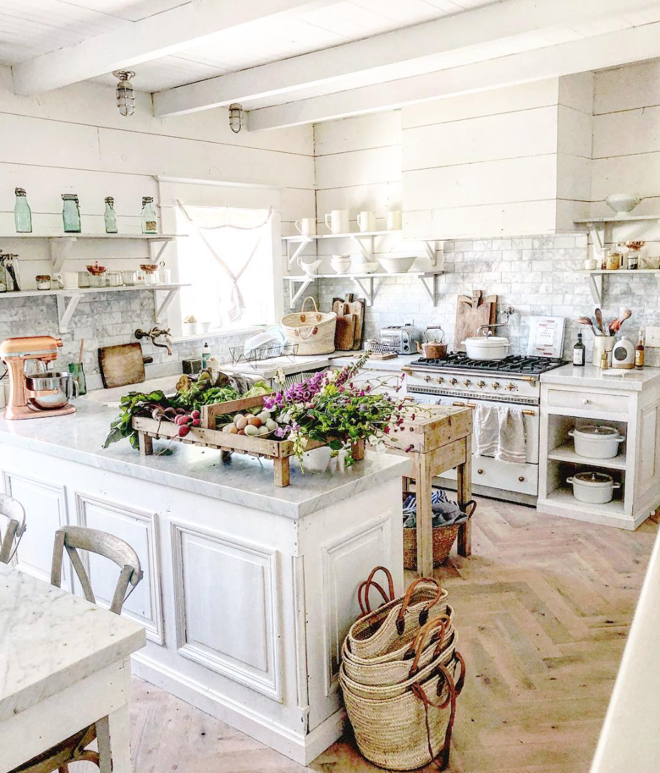 15 Most Beautiful Kitchens on Pinterest-@dreamywhitelifestyle