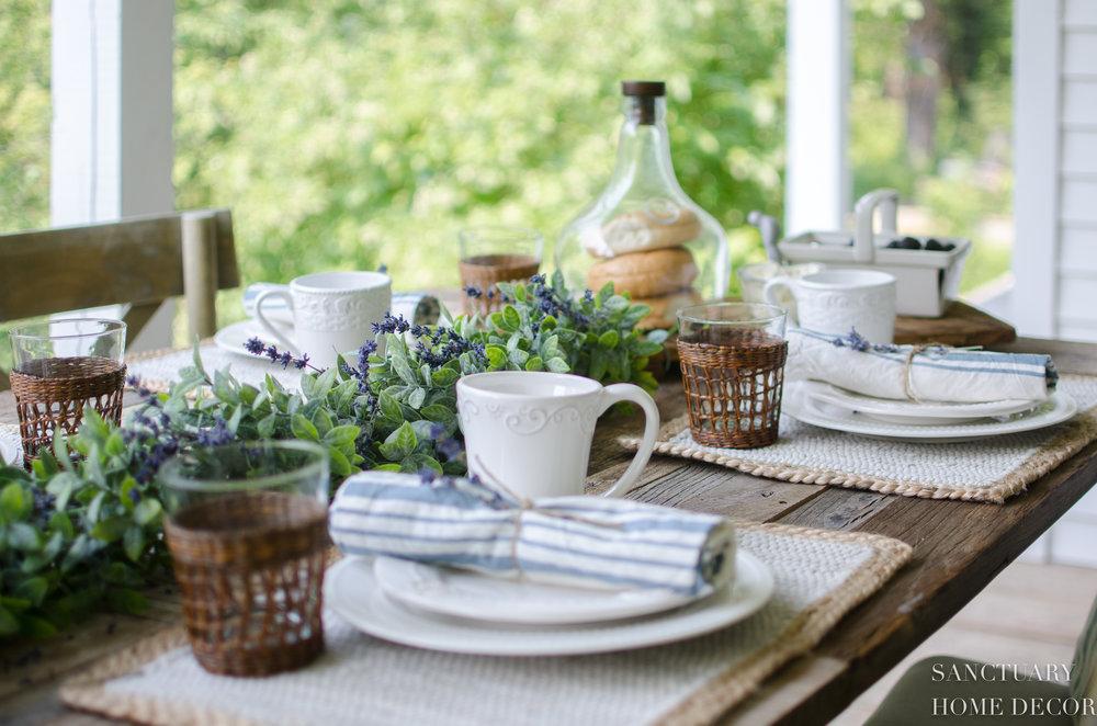 Sunday Brunch Table Setting