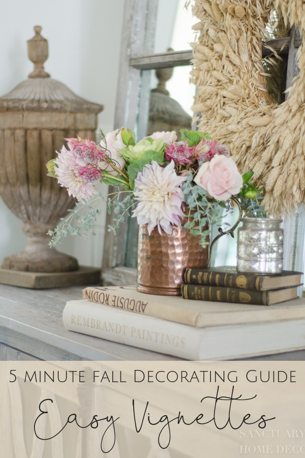 5 Minute Fall Decorating Guide-Easy Vignettes