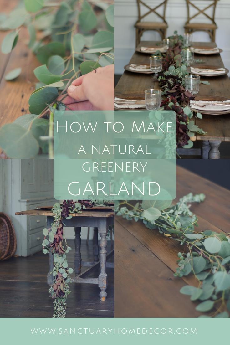 How to Make a Natural Greenery Garland