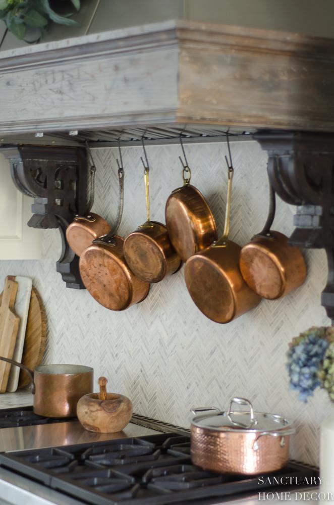 Farmhouse Kitchen with Fall Decor