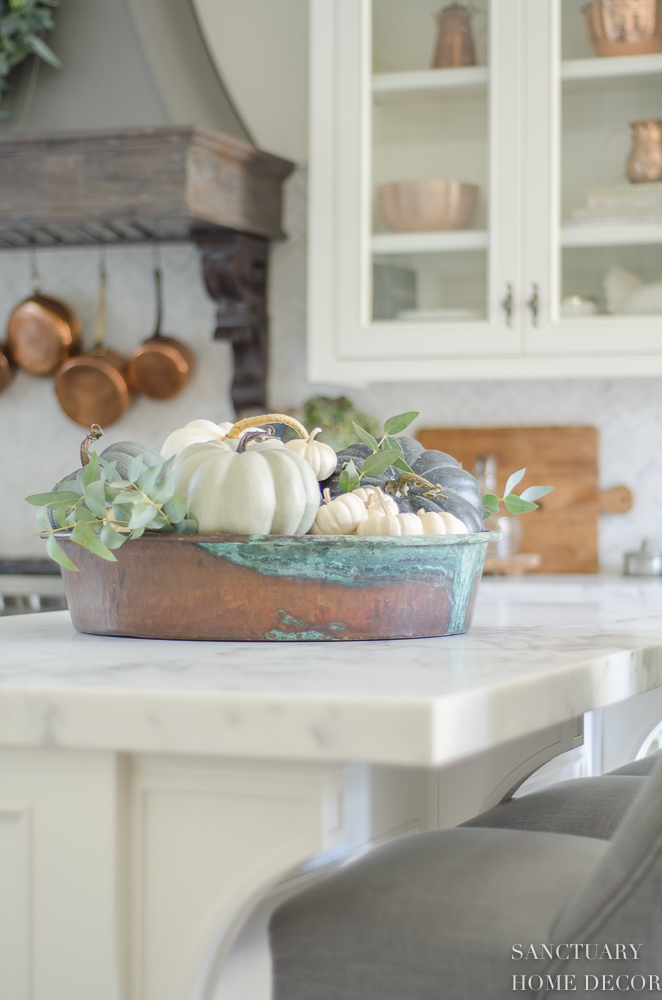 Farmhouse Kitchen With Fall Decor
