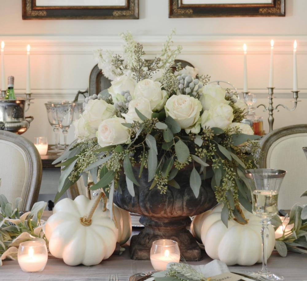 DIY Neutral Thanksgiving Centerpiece