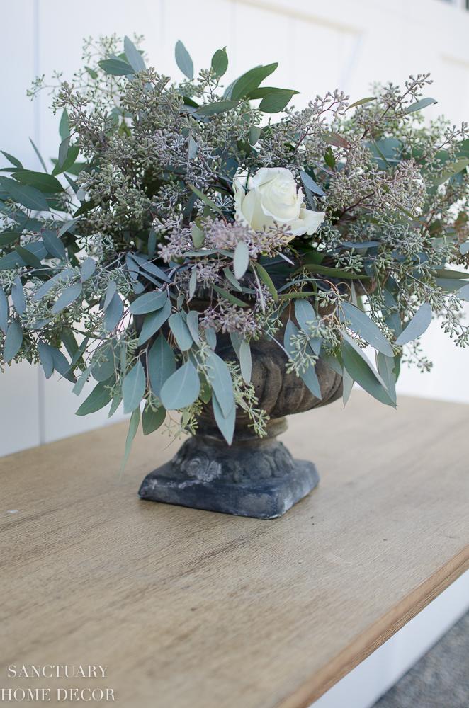 DIY Rose and Eucalyptus Centerpiece