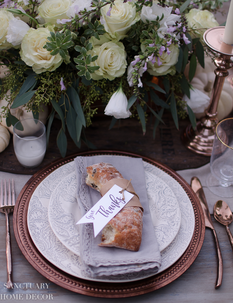 Rustic Thanksgiving Tablescape