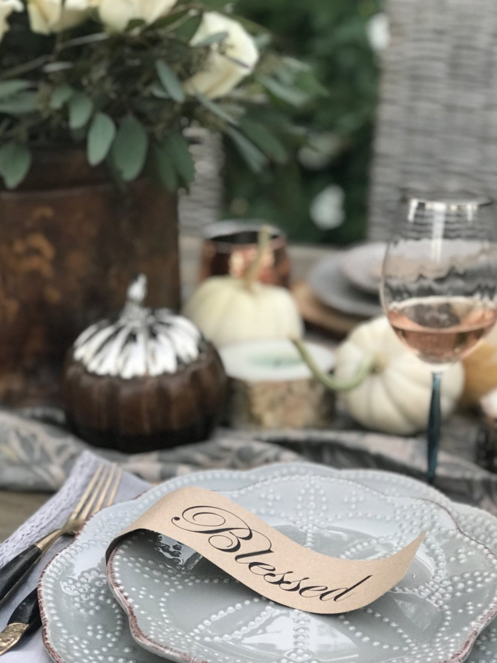 Rustic Thanksgiving Table-Free Printable