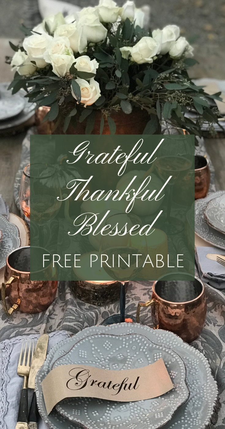 Grateful-Thankful Blessed Printable