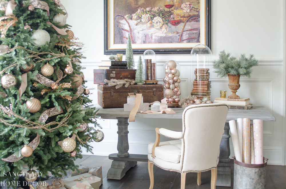 Christmas Decorating Ideas Blush and Copper