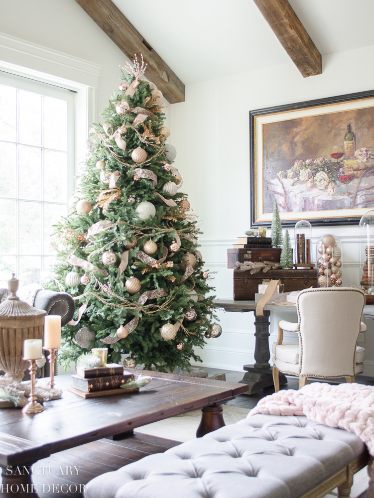 christmas decorating ideas blush gold and copper