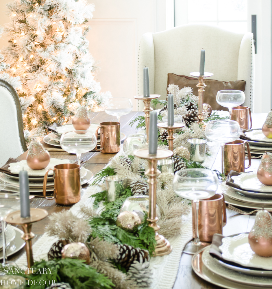 Christmas Table Setting with Garland and Copper Accents-4.jpg