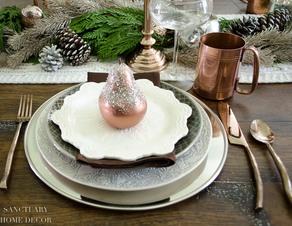 Christmas Table Setting with Garland and Copper Accents-6.jpg