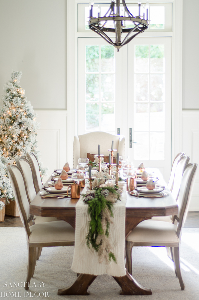 Christmas Table Setting with Garland Centerpiece & Copper Accents-13.jpg