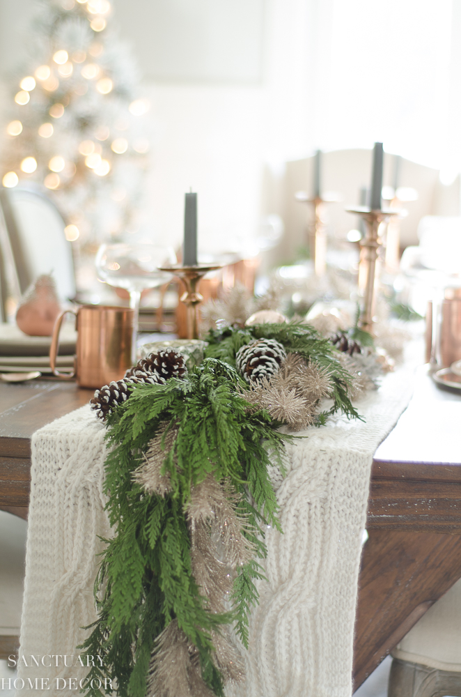Christmas Table Setting with Garland Centerpiece & Copper Accents-16.jpg