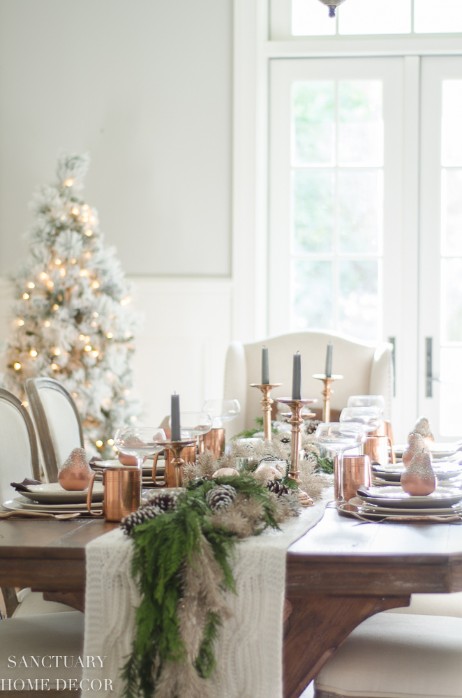 Christmas Table Setting with Garland Centerpiece & Copper Accents-14.jpg